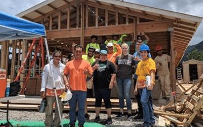 SSFM's team volunteers at Honolulu Habitat for Humanity's Waite build.